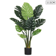 SOGA 113cm Artificial Indoor Potted Turtle Back Fake Decoration Tree Flower Pot Plant