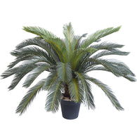 SOGA 125cm Artificial Indoor Cycas Revoluta Cycad Sago Palm Fake Decoration Tree Pot Plant