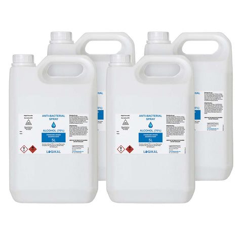 4X 5L Standard Grade Disinfectant Anti-Bacterial Alcohol
