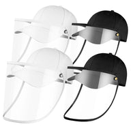4X Outdoor Protection Hat Anti-Fog Pollution Dust Saliva Protective Cap Full Face HD Shield Cover Kids/Adult White Black