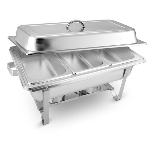 SOGA Stainless Steel Chafing Food Warmer Catering Dish 3*3L Three Trays