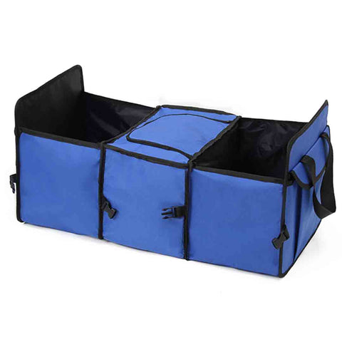 Car Portable Storage Box Waterproof Oxford Cloth Multifunction Organizer Blue