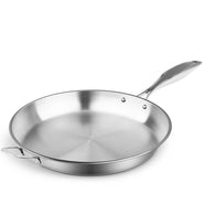 SOGA Stainless Steel Fry Pan 34cm Frying Pan Top Grade Induction Cooking FryPan