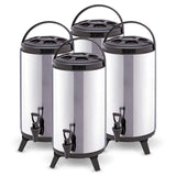 SOGA 4 x 12L Portable Insulated Cold/Heat Coffee Tea Beer Barrel Brew Pot With Dispenser