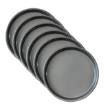 SOGA 6X 7-inch Round Black Steel Non-stick Pizza Tray Oven Baking Plate Pan