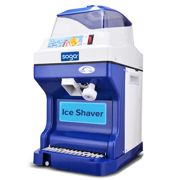 SOGA Commercial Ice Shaver Ice Crusher Slicer Smoothie Maker Machine 180KG/h