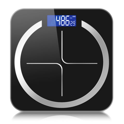 SOGA 180kg Digital Fitness Weight Bathroom Body Glass LCD Electronic Scales Black