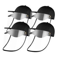 4X Outdoor Protection Hat Anti-Fog Pollution Dust Saliva Protective Cap Full Face HD Shield Cover Kids Black