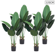SOGA 4X 120cm Artificial Green Indoor Traveler Banana Fake Decoration Tree Flower Pot Plant