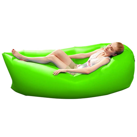 Fast Inflatable Sleeping Bag Lazy Air Sofa Green