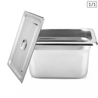 SOGA Gastronorm GN Pan Full Size 1/1 GN Pan 20cm Deep Stainless Steel Tray With Lid