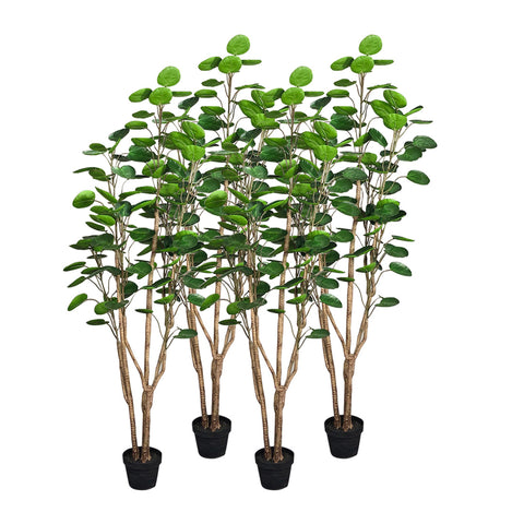 SOGA 4X 150cm Green Artificial Indoor Pocket Money Tree Fake Plant Simulation Decorative