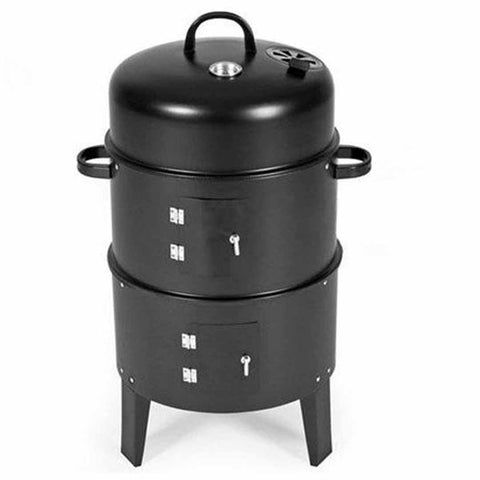 SOGA 3 In 1 Barbecue Smoker Outdoor Charcoal BBQ Grill Camping Picnic Fishing