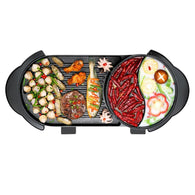 SOGA 2 in 1 Electric Non-Stick BBQ Teppanyaki Grill Plate Steamboat Dual Sided Hotpot