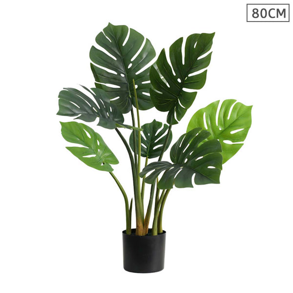 SOGA 80cm Artificial Indoor Potted Turtle Back Fake Decoration Tree Flower Pot Plant