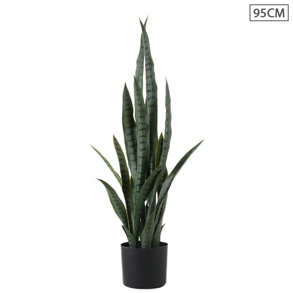 SOGA 95cm Artificial Indoor Snake Sansevieria Plant Fake Decoration Tree Flower Pot