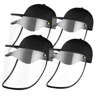 4X Outdoor Protection Hat Anti-Fog Pollution Dust Saliva Protective Cap Full Face HD Shield Cover Kids/Adult Black