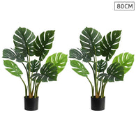 SOGA 2X 80cm Artificial Indoor Potted Turtle Back Fake Decoration Tree Flower Pot Plant