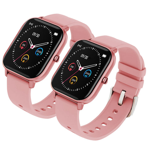 SOGA 2X Waterproof Fitness Smart Wrist Watch Heart Rate Monitor Tracker P8 Pink