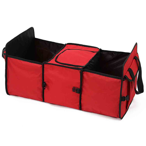 SOGA Car Portable Storage Box Waterproof Oxford Cloth Multifunction Organizer Red