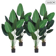SOGA 4X 160cm Artificial Green Indoor Traveler Banana Fake Decoration Tree Flower Pot Plant