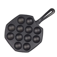 SOGA 18CM Cast Iron Non Stick Takoyaki Fry Pan Octopus Balls Maker 12 Hole Cavities Grill Mold