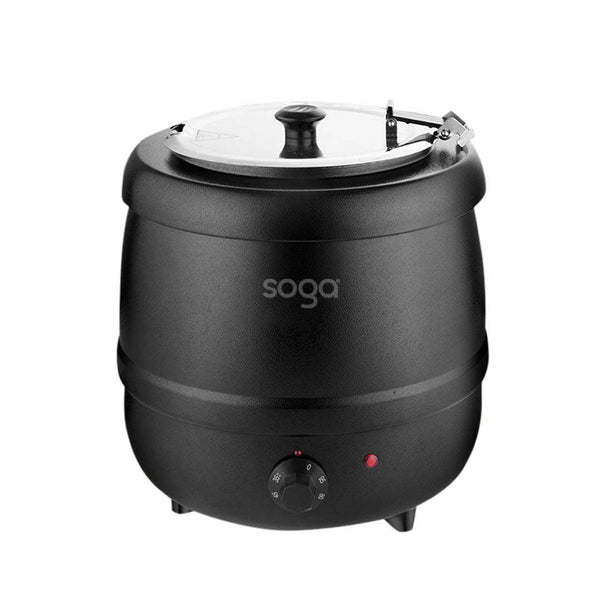 SOGA 10L Soup Kettle Commercial Soup Pot Electric Soup Maker Black