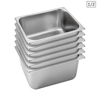 SOGA 6X Gastronorm GN Pan Full Size 1/2 GN Pan 20cm Deep Stainless Steel Tray