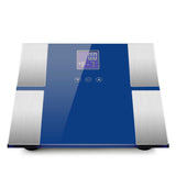 Blue Digital Body Fat Scale Bathroom Scales Weight Gym Glass Water LCD Electronic