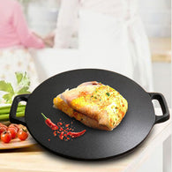 Cast Iron Induction Crepes Pan Baking Cookie Pancake Pizza Bakeware