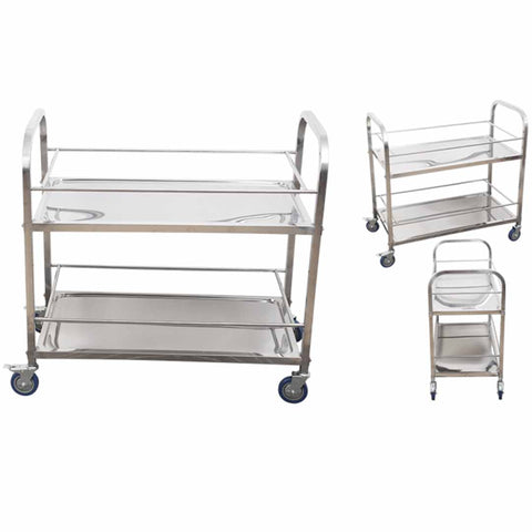 Soga 2 Tier Stainless Steel Drink Wine Food Utility Cart