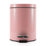 SOGA 4X Foot Pedal Stainless Steel Rubbish Recycling Garbage Waste Trash Bin Round 12L Pink