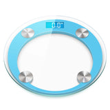 SOGA 180kg Digital Fitness Weight Bathroom Gym Body Glass LCD Electronic Scale Orange/Blue