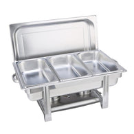 SOGA Stainless Steel Chafing Triple Tray Catering Dish Food Warmer