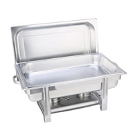 SOGA Stainless Steel Chafing Single Tray Catering Dish Food Warmer