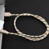 Android 1.5M MFI Metal Braided Lightning USB Cable Rose Gold