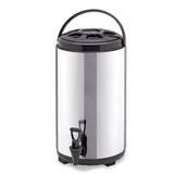 10L Portable Insulated Cold/Heat Coffee Tea Beer Barrel Brew Pot With Dispenser