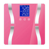SOGA 2x Digital Body Fat Scale Bathroom Scales Weight Gym Glass Water LCD Electronic Purple