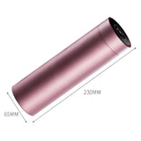 SOGA 2X 500ML Stainless Steel Smart LCD Thermometer Display Bottle Vacuum Flask Thermos Rose Gold