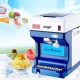 SOGA 2x Ice Shaver Commercial Electric Stainless Steel Ice Crusher Slicer Machine 120kg/h