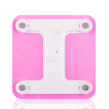 SOGA 180kg Digital Fitness Weight Bathroom Gym Body Glass LCD Electronic Scales White/Pink