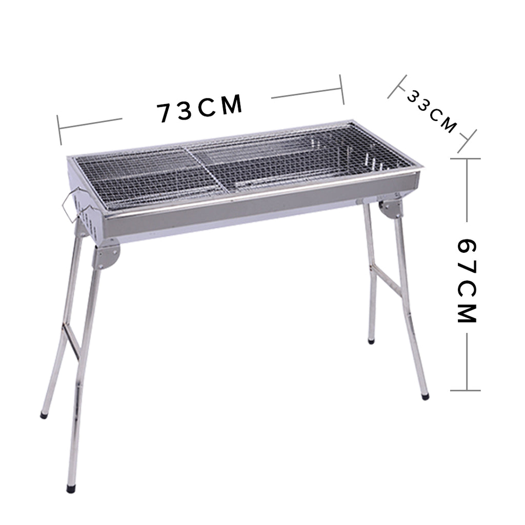 Soga Skewers Grill Portable Stainless Steel Charcoal Bbq