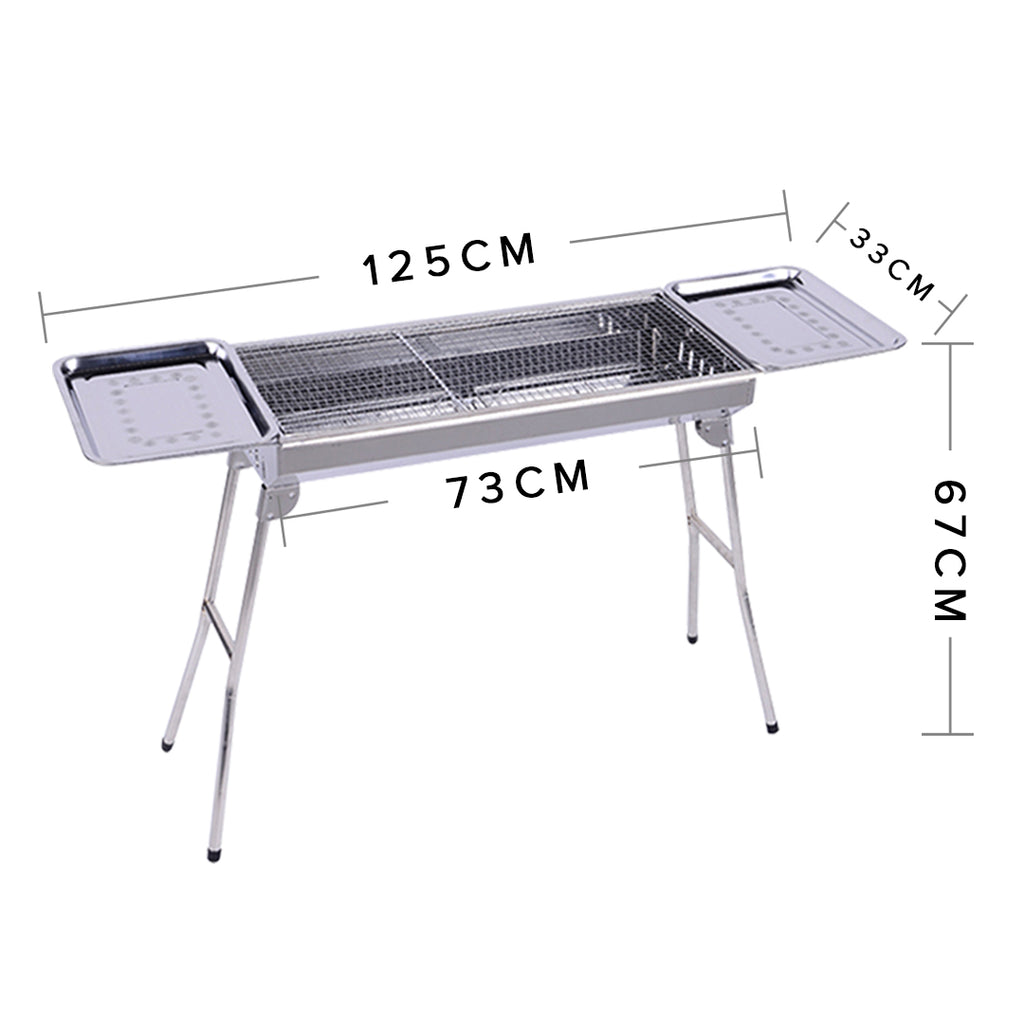 Soga skewers grill with side tray portable stainless steel - Portable dishwasher stainless steel exterior ...