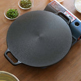 SOGA Dual Burners Cooktop Stove 30cm Cast Iron Skillet and 34cm Induction Crepe Pan Cookware