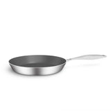 SOGA Stainless Steel Fry Pan 28cm 32cm Frying Pan Induction Non Stick Interior