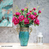 SOGA 8 Bunch Artificial Silk Rose 5 Heads Flower Fake Bridal Bouquet Table Decor Pink