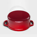 Cast Iron Enamel Porcelain Stewpot Casserole Stew Cooking Pot With Lid 5L Red 26cm