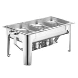 SOGA 9L Stainless Steel 3 Pans Bain-marie Chafing Catering Dish Buffet Food Warmer