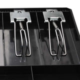 SOGA 4 Bills 8 Coins Cash Tray With Lockable Lid Heavy Duty Spare Cash Tray Black