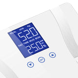 SOGA 2 x Digital Body Fat Scale Bathroom Scales Weight Gym Glass Water LCD Purple/White